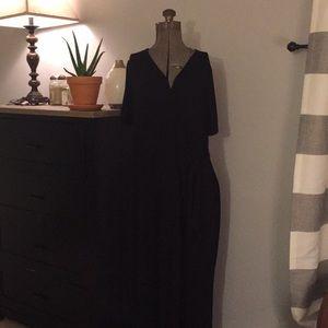 Forever 21 Plus Black Maxi Wrap Dress